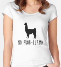 No Prob-Llama Women's Fitted Scoop T-Shirt