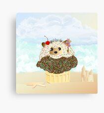 Porcupine Ice Cream Cone  Canvas Print