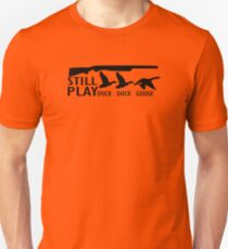 Still Play Hunting funny nerd geek geeky Unisex T-Shirt
