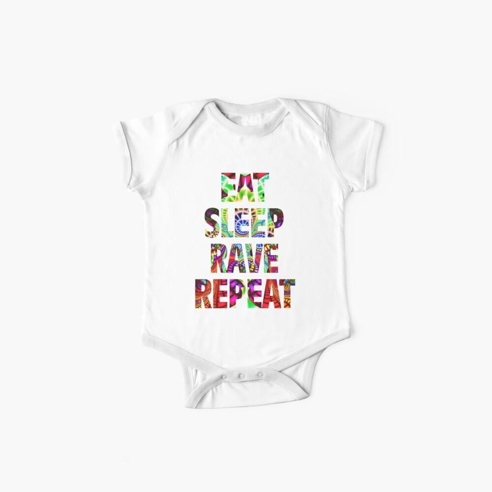 Eat Sleep Rave Repeat Baby One-Piece