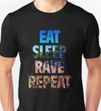 Camiseta ajustada Eat Sleep Rave Repeat