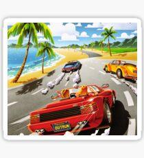 California OutRun SEGA utopian heaven arcade racer Sticker