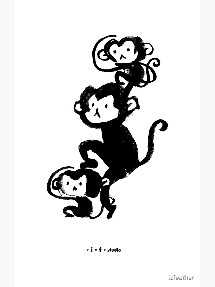 monkeys by isfeather