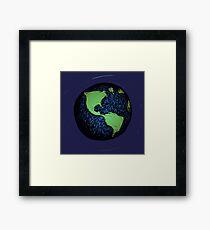 Sketched Earth Framed Print