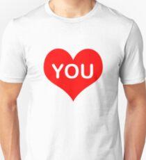 i love you sticker Unisex T-Shirt
