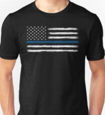 Blue Line - Traditional (White) T-Shirt