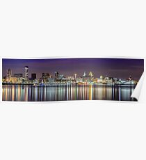 The Liverpool Waterfront Skyline Poster