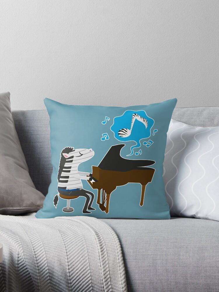 Zebra und Klavier von Kopfzirkus