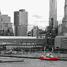 Red and Grey New York Harbour by mikequigley