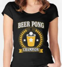 Beer Pong Champion Women's Fitted Scoop T-Shirt