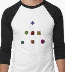 Colourful Polyhedron Dice Men's Baseball ¾ T-Shirt
