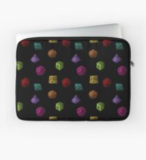 Colourful Polyhedron Dice Laptop Sleeve