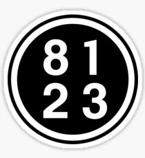 8123 Means...? Sticker