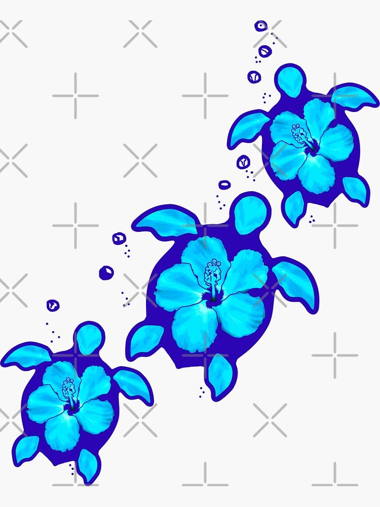 3 blaue Honu Schildkröten von BailoutIsland