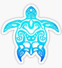 Ocean Blue Tribal Turtle Sticker