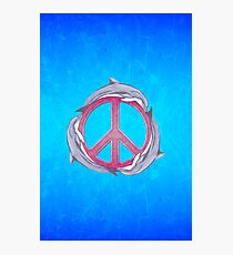 Dolphin Peace Pink Photographic Print