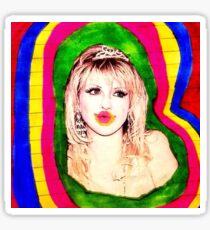 Psychedelic Courtney Love  Sticker