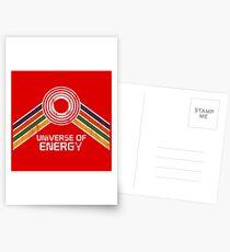 Universum der Energie-Logo in Vintage-Distressed-Stil Postkarten