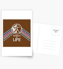 Wunder des Lebens Logo in Vintage Distressed Style Postkarten
