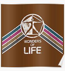 Wunder des Lebens Logo in Vintage Distressed Style Poster