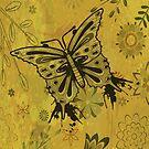 Vintage Grunge Butterfly Vector Design by doonidesigns