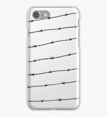 Cool gray white and black barbed wire pattern iPhone Case/Skin