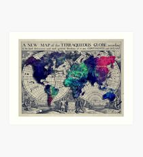 map of the world Art Print
