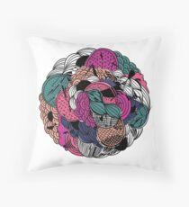 Flower Ball Throw Pillow