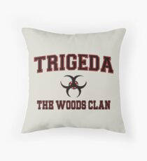 Trigeda (The Woods Clan) College Throw Pillow
