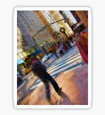 Colorful NYC Street Scene Sticker