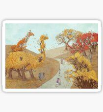 The Night Gardener - Autumn Park Sticker