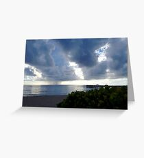 Storm Over Atlantic Greeting Card