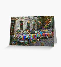 DeepDream Berlin, Trabbi 001 Greeting Card