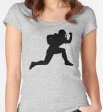 Classic American Football Pattern Women's Fitted Scoop T-Shirt