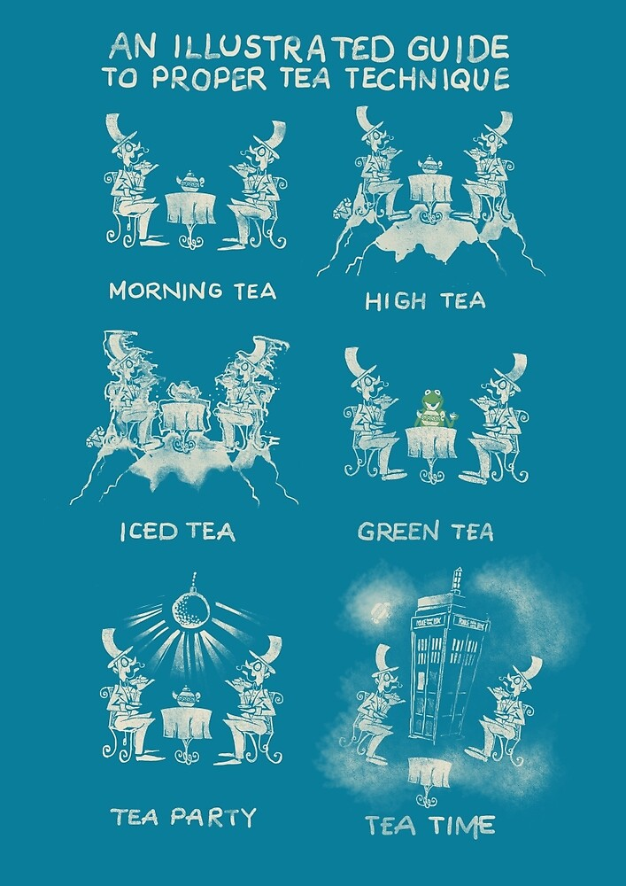 An illustrated Guide to Proper Tea Technique by tinymallet