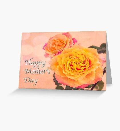 Happy Mother's Day Burst Of Beauty Orange Roses Greeting Card