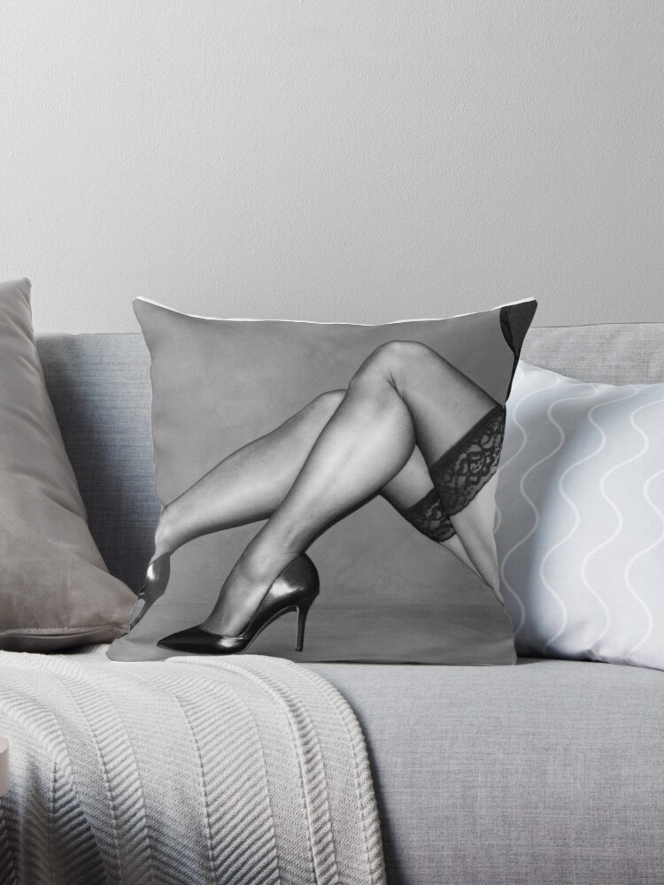 Stupendous Sexy Legs In Stockings Throw Pillow By Eyecandy55 Cjindustries Chair Design For Home Cjindustriesco