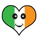 Cute Irish Heart Smiley Face by doonidesigns