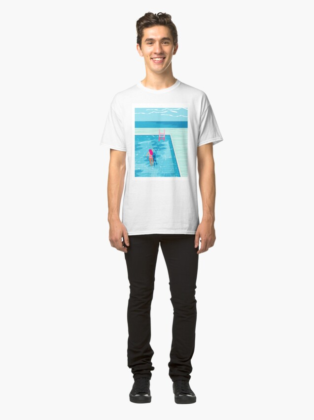 Alternate view of In Deep - abstract memphis throwback 1980s style retro neon palm springs simmer resort country club poolside vacation Classic T-Shirt