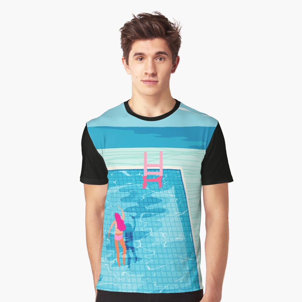 In Deep - abstract memphis throwback 1980s style retro neon palm springs simmer resort country club poolside vacation Graphic T-Shirt