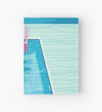 In Deep - abstract memphis throwback 1980s style retro neon palm springs simmer resort country club poolside vacation Hardcover Journal