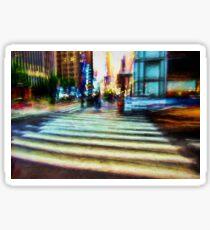 Twilight NYC Abstract Sticker