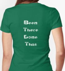 White - Worldly Baby Jumpsuit - Been There Done That - Fun T-Shirt Womens Fitted T-Shirt