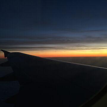 Plane Sunset  by cElsiePics