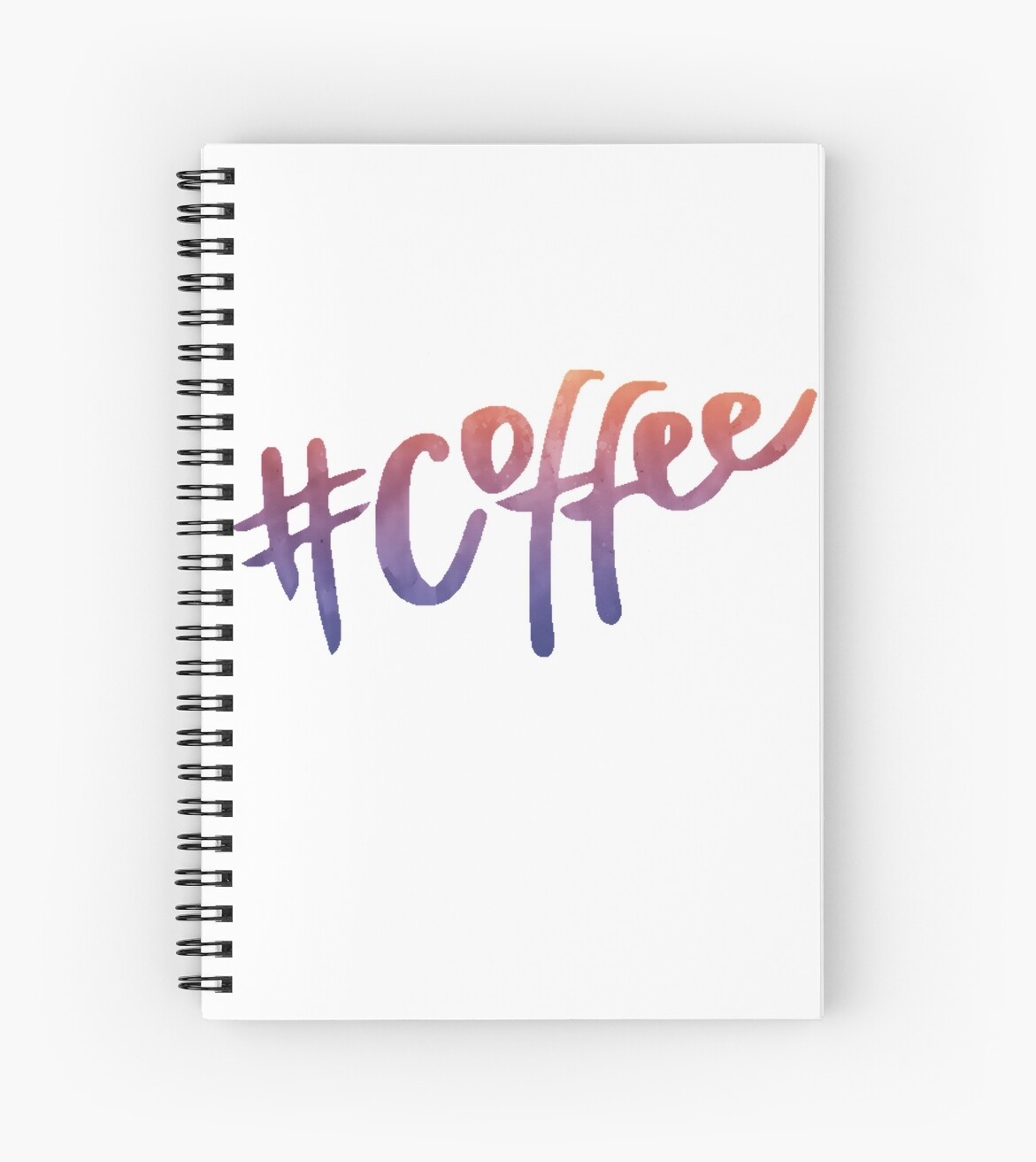quot coffee watercolor typography tumblr trendy quot spiral notebooks by vrai chic redbubble