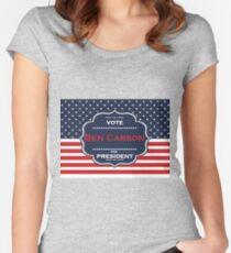 Camiseta entallada de cuello ancho presidente de ben carson