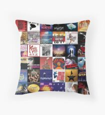 Proud Musical Theatre Trash Throw Pillow