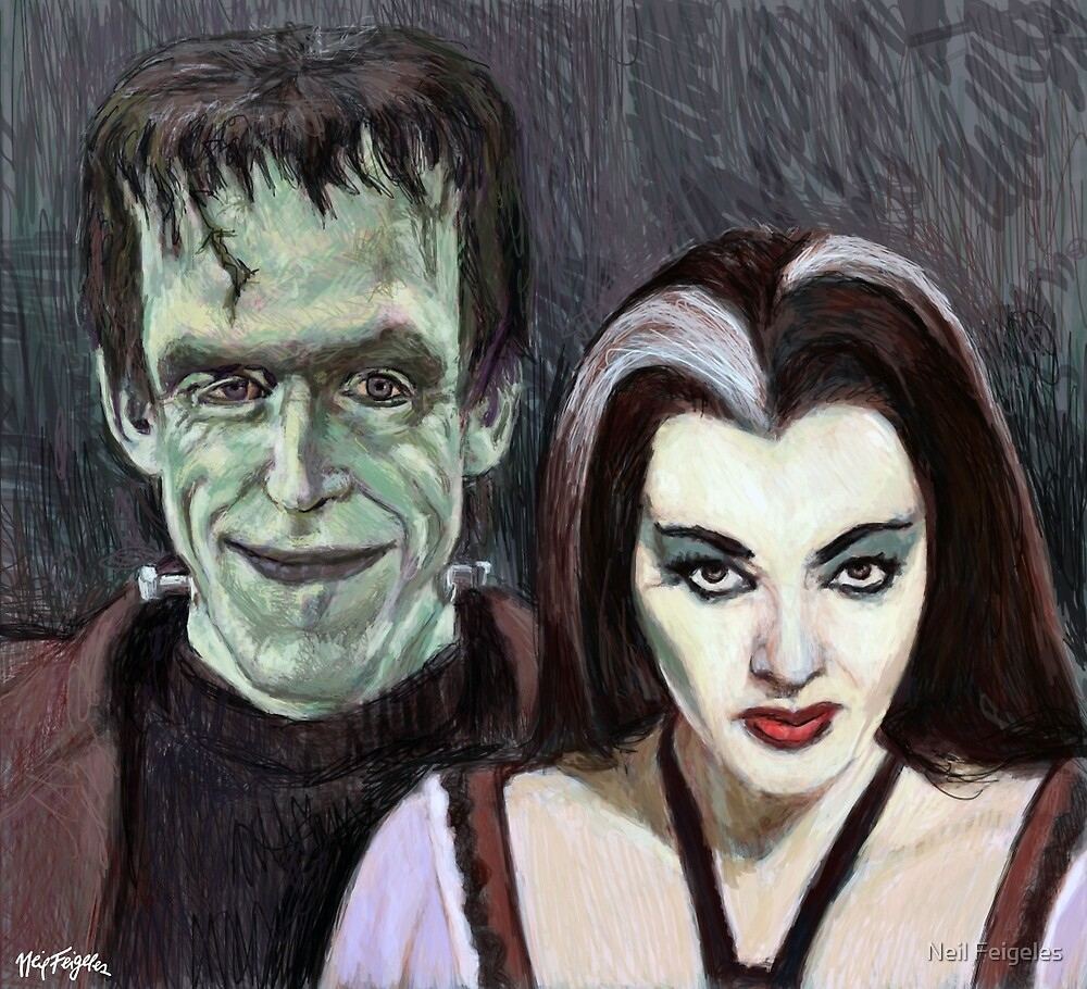 Lily and Herman Munster by NeilFeigeles
