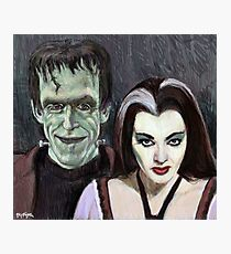 Lily and Herman Munster Photographic Print