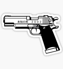 Unknown Death 2002 Gun Sticker